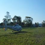 Elicottero Alidaunia in sosta