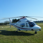 Alidaunia elicottero in sosta
